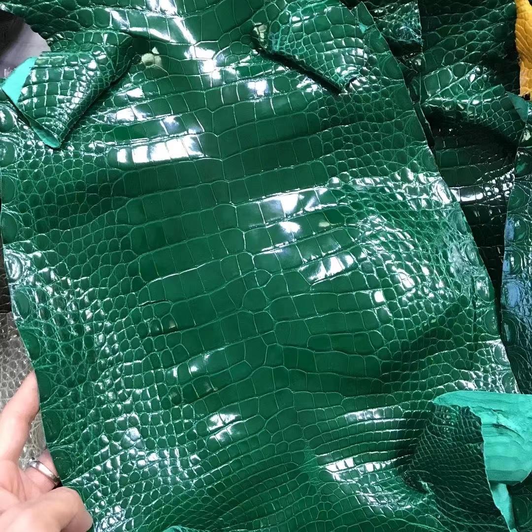 Hermès(爱马仕)新皮 鳄鱼皮 祖母绿 定制