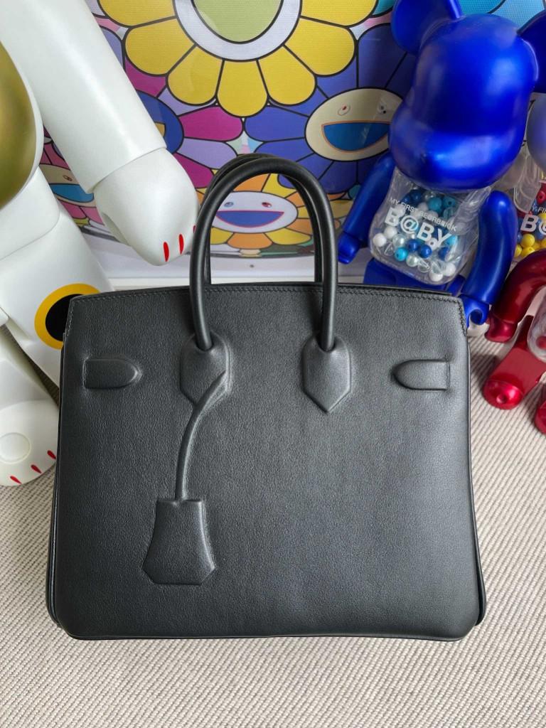 Hermès(爱马仕)Birkin 铂金包 Shadow ck89 黑色 Noir 25cm 顶级手缝 超美