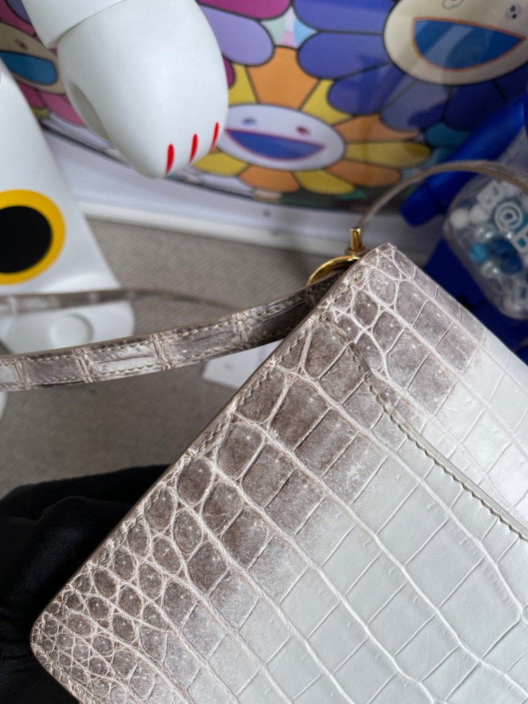 Hermès(爱马仕)Roulis 猪鼻子 Himalaya 喜马拉雅 金扣 18cm 顶级手缝 现货