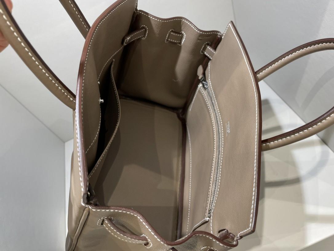 Hermès(爱马仕)Birkin Shadow 幻影 大象灰 etoupe 25cm 凹凸有致的影子设计