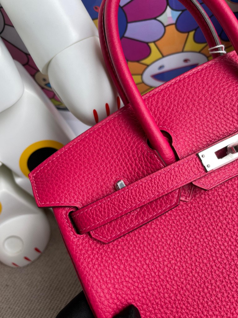 Hermès(爱马仕)Birkin 铂金包 原厂小牛皮 togo 墨西哥粉 银扣 25cm 顶级手缝 现货
