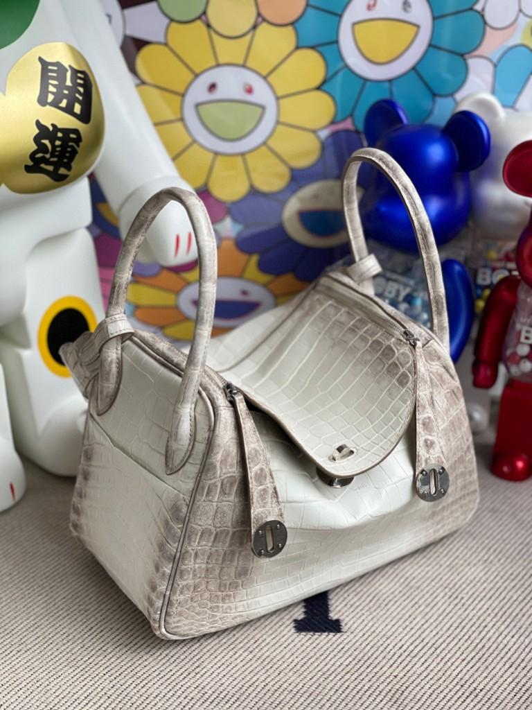 Hermès(爱马仕)Lindy 琳迪包 Himalaya 喜马拉雅 银扣 26cm
