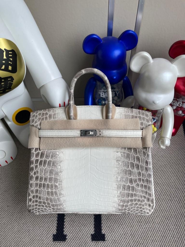 Hermès(爱马仕)Birkin 铂金包 Himalaya 喜马拉雅 银扣 25cm 顶级手缝 品相超赞 现货