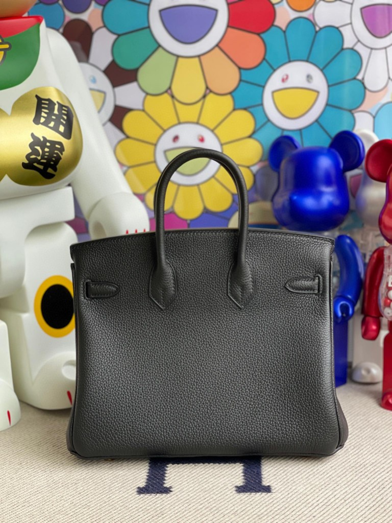 Hermès(爱马仕)Birkin 铂金包 原厂小牛皮 Togo ck89 黑色 Noir 金扣 25cm 顶级手缝
