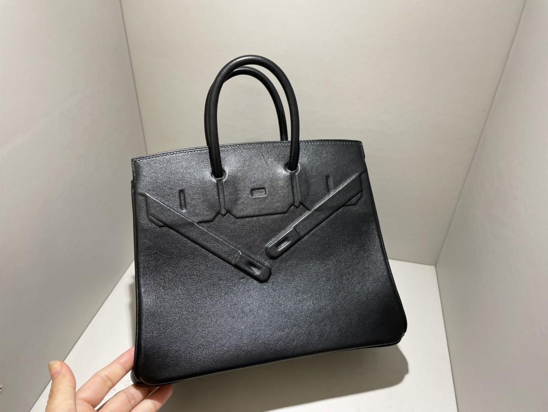 Hermès(爱马仕)Birkin Shadow 幻影 黑色 Noir 25cm 凹凸有致的影子设计