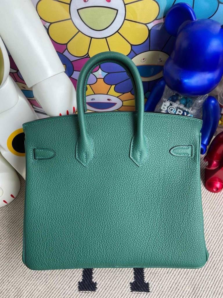Hermès(爱马仕)Birkin 铂金包 原厂小牛皮 togo Z6 孔雀绿 Malachite 金扣 25cm 顶级手缝