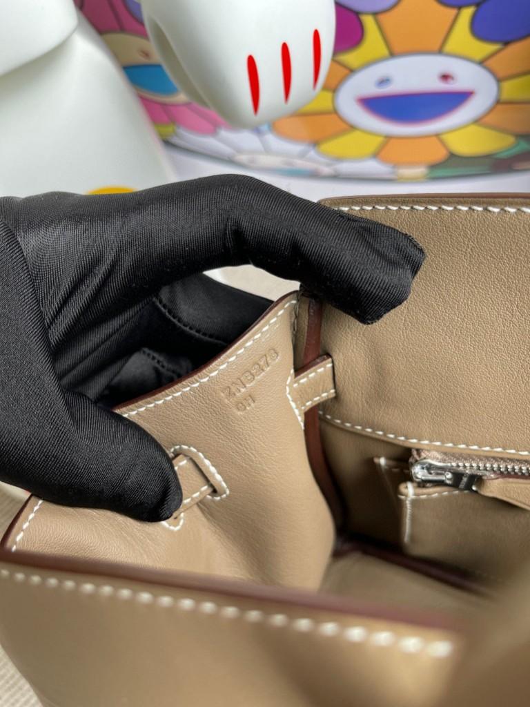 Hermès(爱马仕)Birkin 铂金包 Shadow ck18 大象灰 Etoupe 25cm 顶级手缝 超美