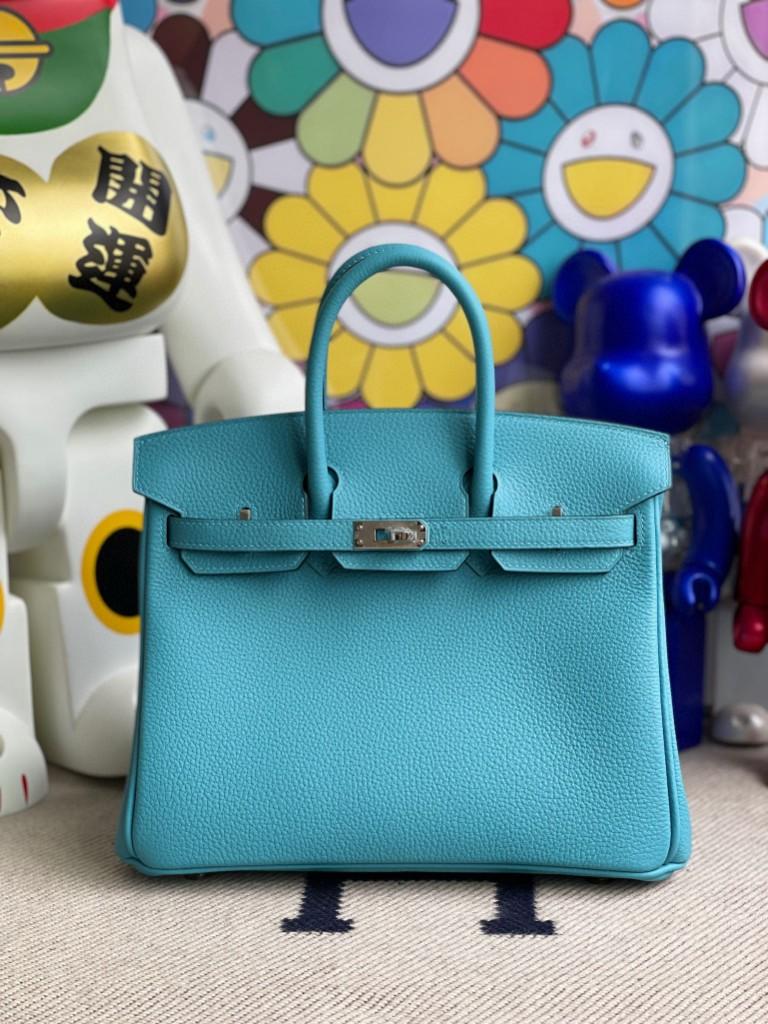 Hermès(爱马仕)Birkin 铂金包 原厂小牛皮 Togo p3 北方蓝 银扣 25cm 顶级手缝