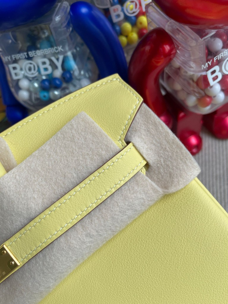 Hermès(爱马仕)Birkin 铂金包 Swift皮 1Z 小鸡黄 金扣 25cm 顶级手缝
