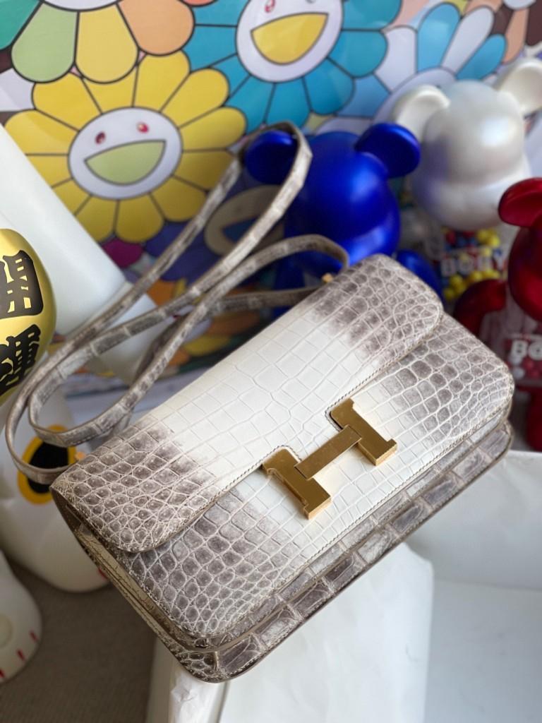 Hermès(爱马仕)Constance 空姐包 Elan himalaya 喜马拉雅 金扣 26cm 顶级手缝
