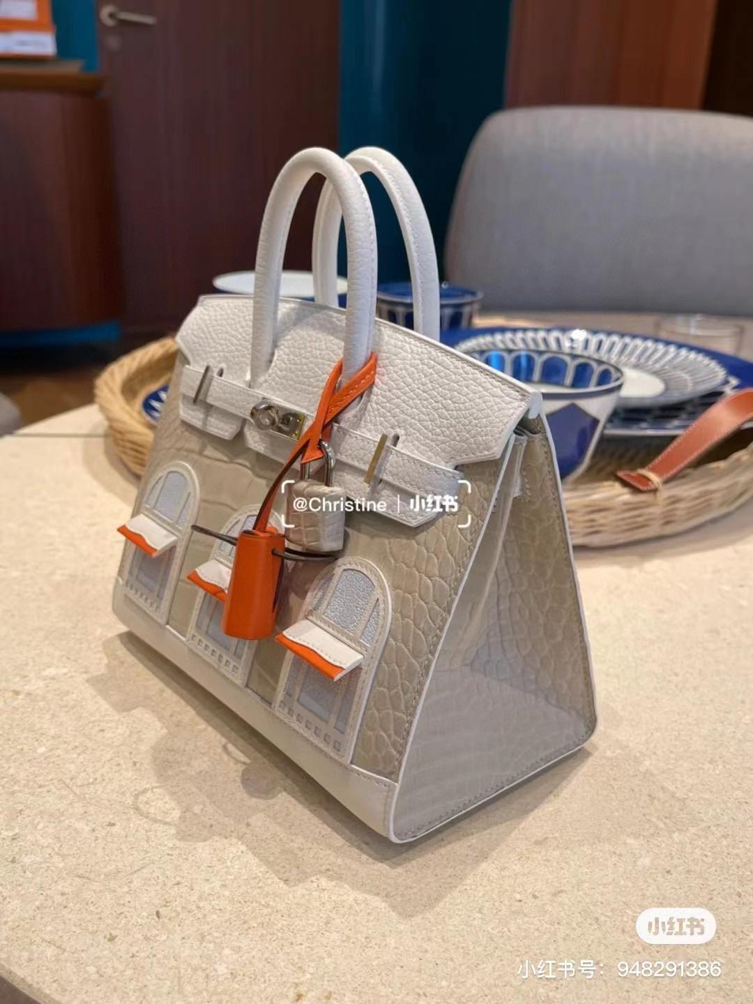 Hermès(爱马仕)Birkin 小房子 白色 20cm 定制