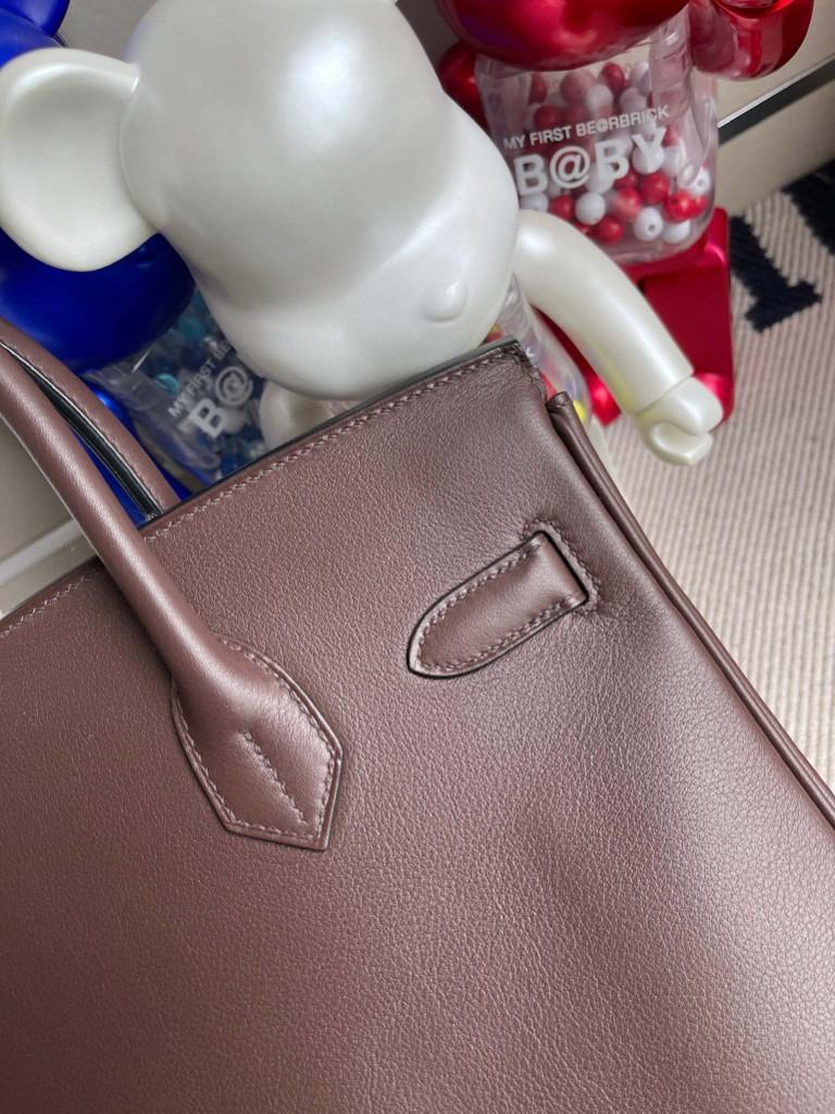 Hermès(爱马仕)Birkin 铂金包 Swift 巧克力色 chocolate 金扣 30cm 顶级手缝  超美
