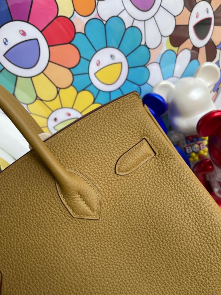 Hermès(爱马仕)Birkin 铂金包 原厂小牛皮 togo 8U 铜金色 金扣 30cm 顶级手缝