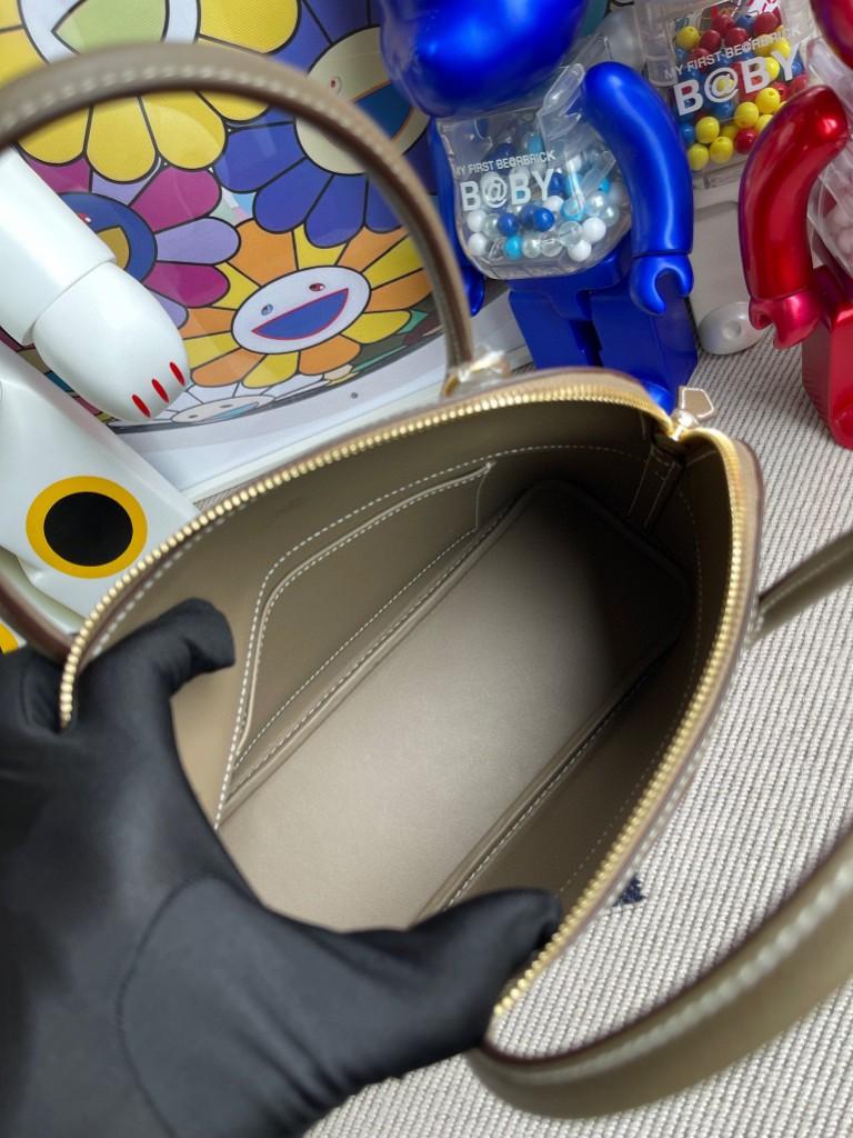 Hermès(爱马仕)Bolide 保龄球包 Epsom 原厂掌纹皮 ck18 大象灰 etoupe 金扣 27cm 顶级手缝
