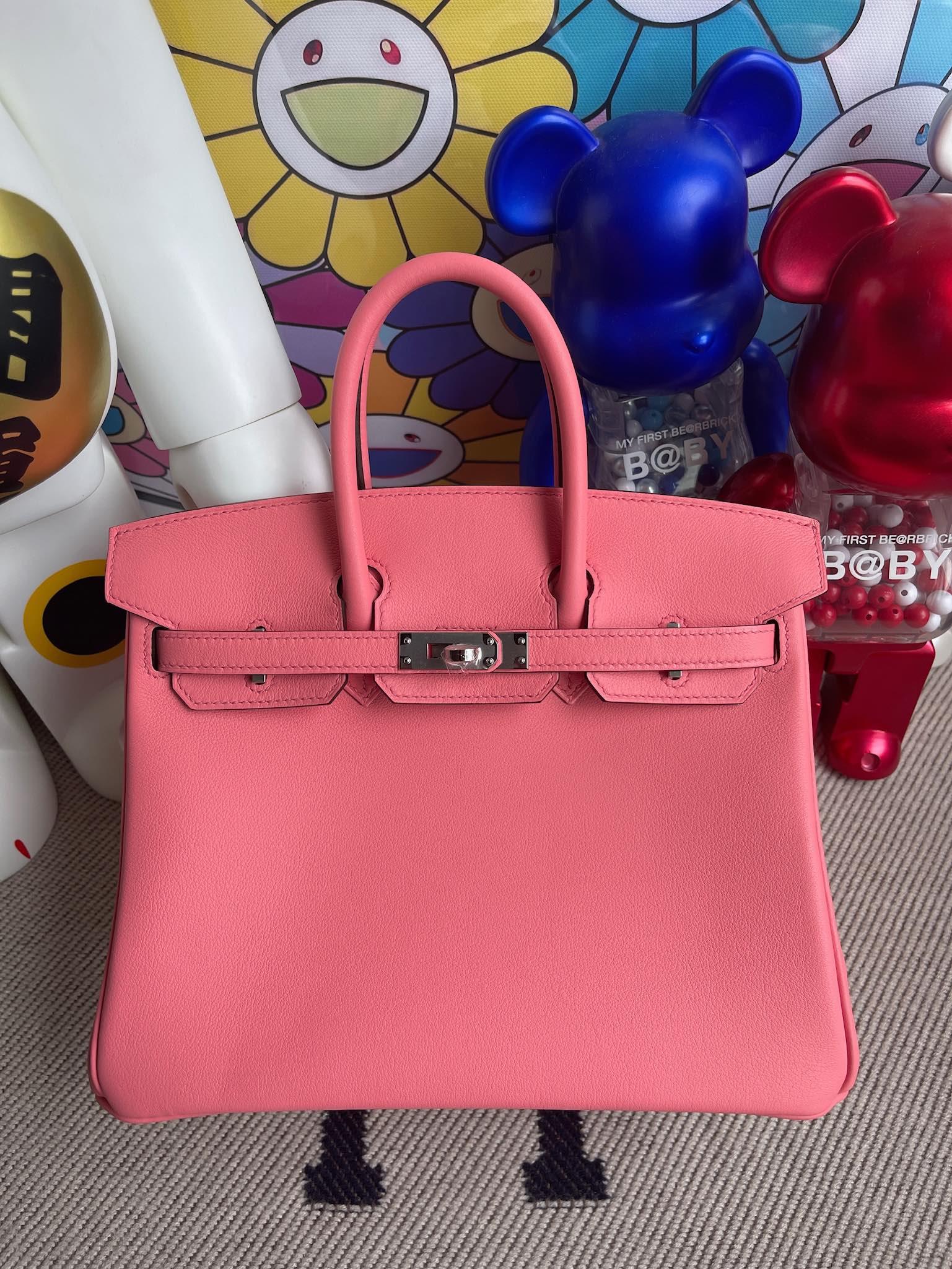Hermès(爱马仕)Birkin 铂金包 Swift 夏日玫瑰粉 银扣 25cm 顶级手缝