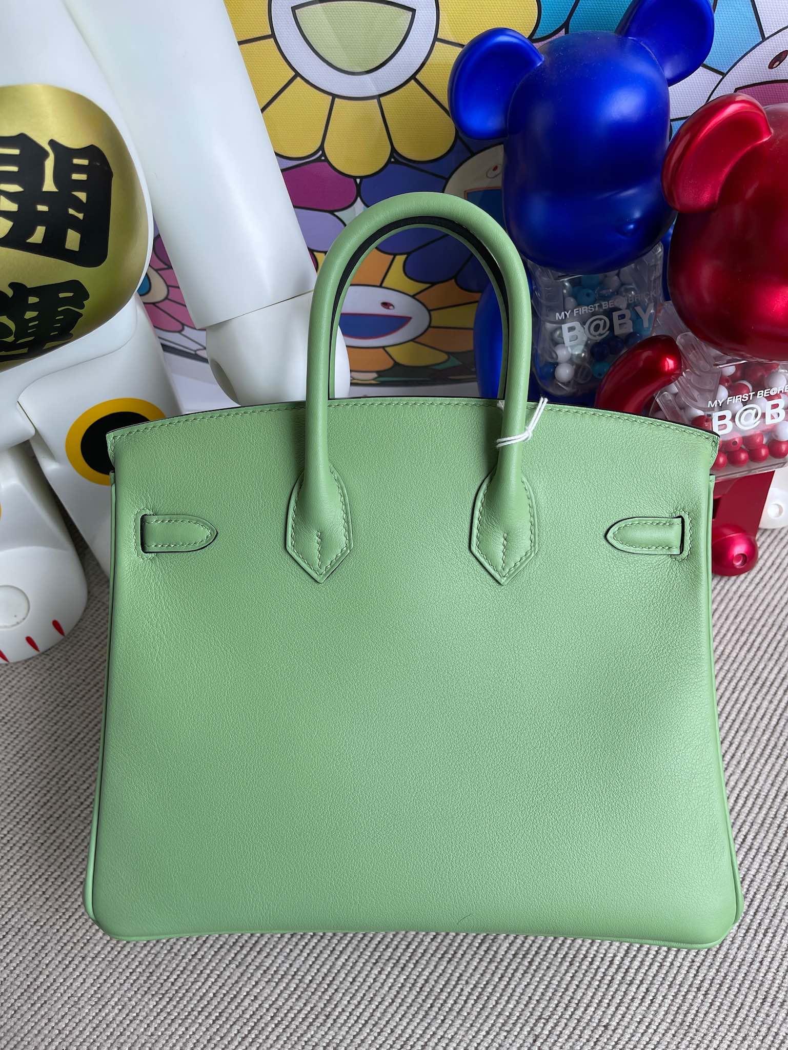 Hermès(爱马仕)Birkin 铂金包 swift 3I 牛油果绿 银扣 25cm 顶级手缝
