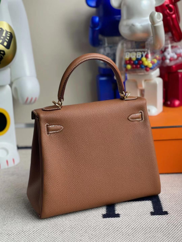 Hermès(爱马仕)Kelly 凯莉包 togo ck37 金棕色 金扣 25cm 顶级工艺 全手工缝制