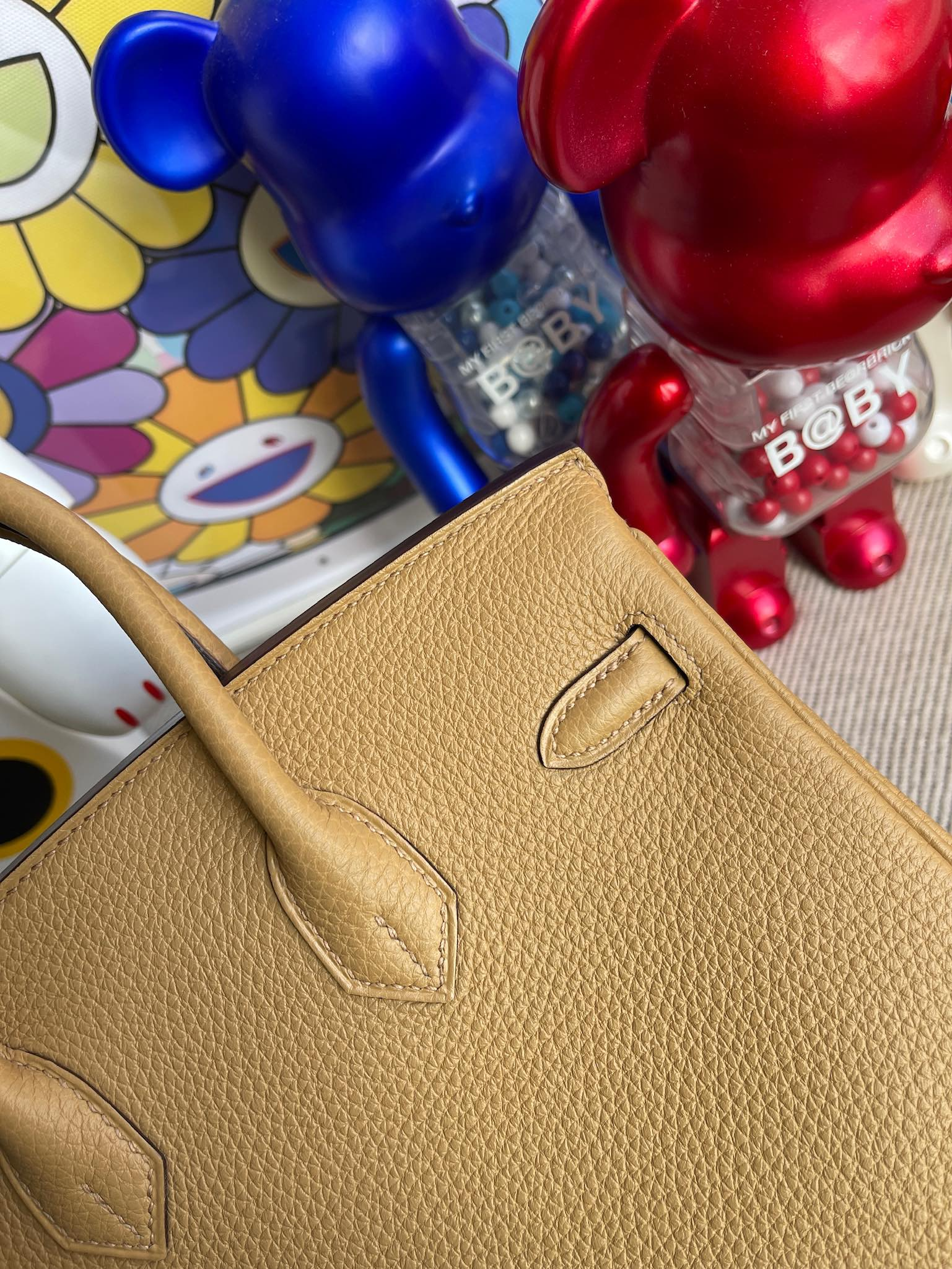 Hermès(爱马仕)Birkin 铂金包 原厂小牛皮 4B 饼干色 金扣 25cm 顶级手缝