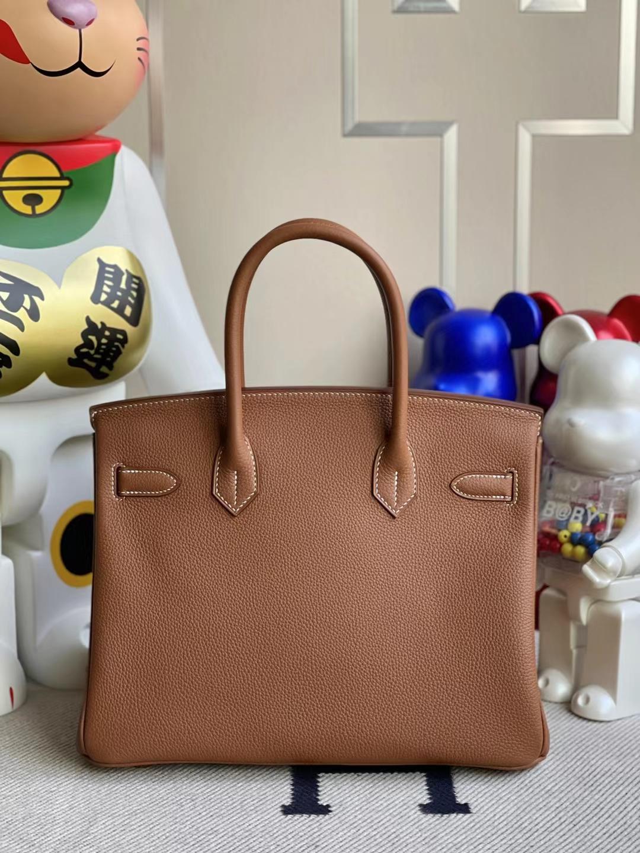 Hermès(爱马仕)Birkin 铂金包 Togo Ck37 金棕色 金扣 30cm 顶级工艺 全手工缝制 stock