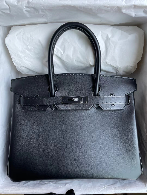 Hermès(爱马仕)Birkin 铂金包 Jonathan Ck89 黑色 银扣 30cm