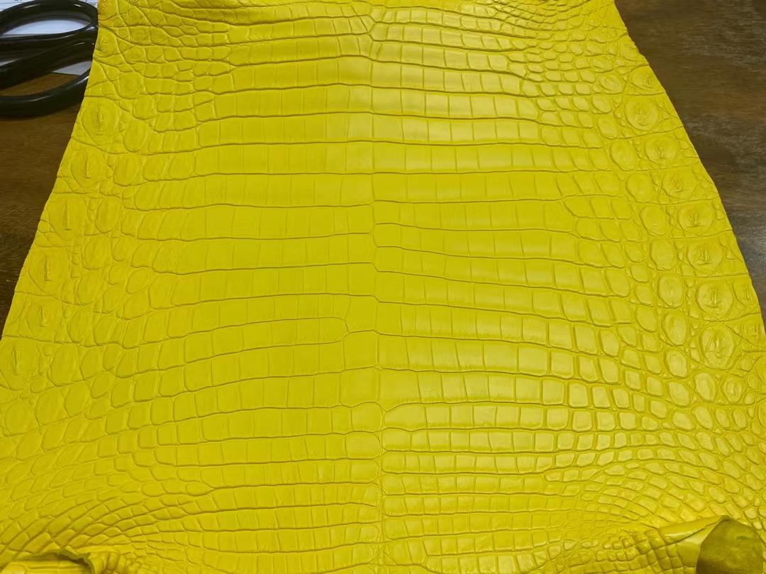 Hermès(爱马仕)Leather 2021 新到色 雾面尼罗鳄 9R 柠檬黄 可定制